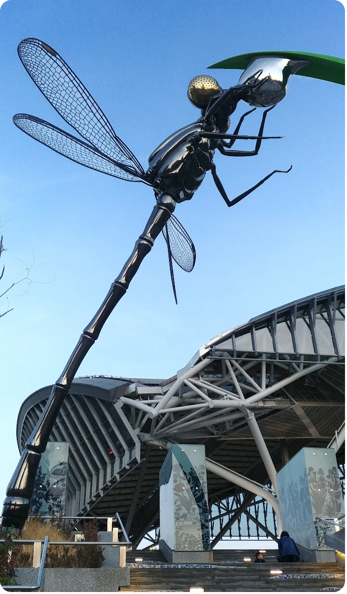 dragonfly sculpture - click on image to return