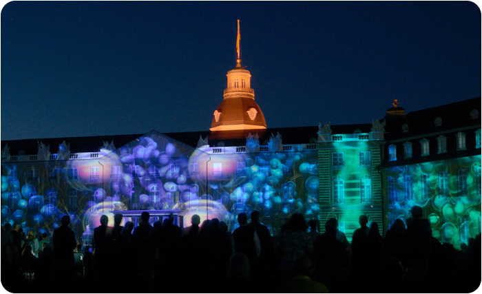 Karlsruhe light festival  - click on image to return