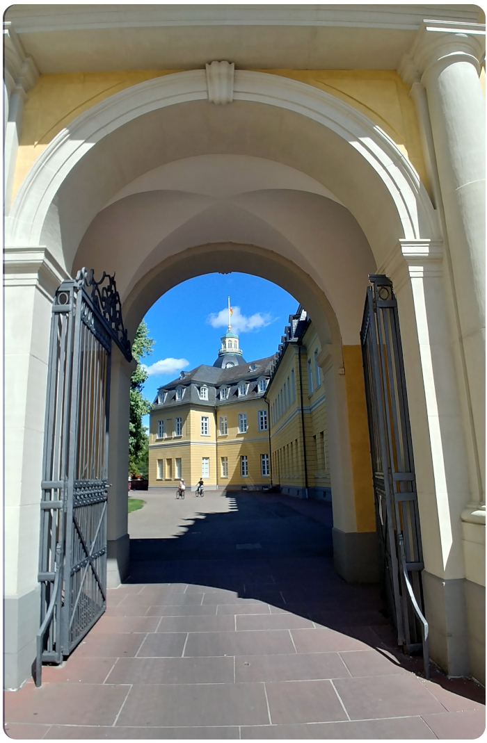 Archway Karlsruhe schloss - click on image to return