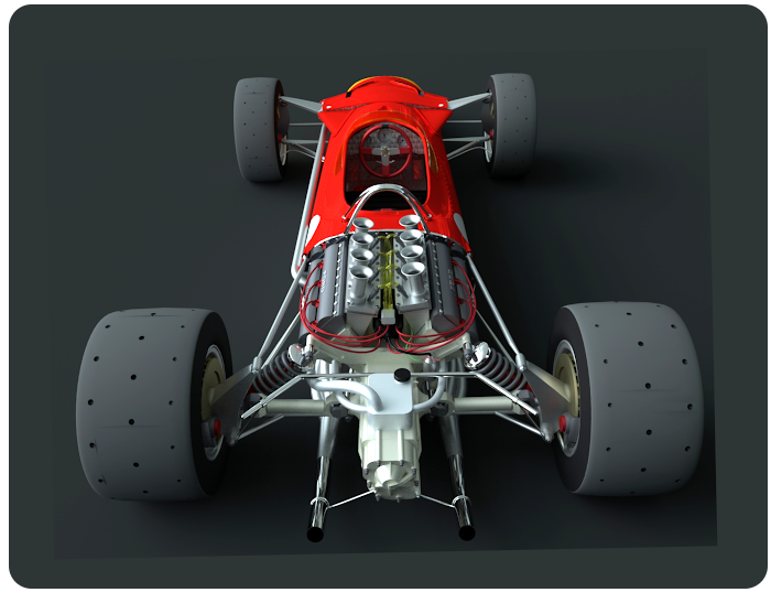 lotus 49 f1 racing car - click on image to return